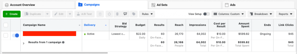 Facebook Ads for Flooring Companies Results for A1 Floors